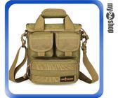 戶外 戰術 隨身 單肩包 手提包 斜挎 子母包 便攜 小型 泥色(79-4620)