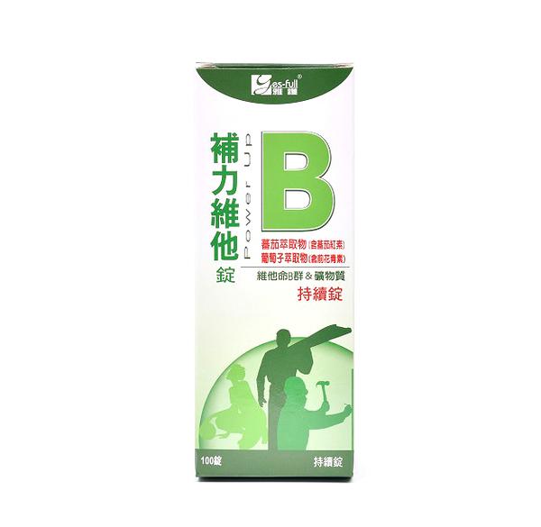 雅護 補力維他-B持續錠 100錠【德芳保健藥妝】B群