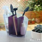 筷籠 簡約廚房瀝水創意家用筷子盒多功能塑料湯勺架子 AW4312『愛尚生活館』