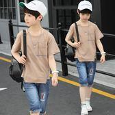 童裝男童短袖套裝中大童夏季新款兒童韓版兩件套男孩夏裝潮衣  9號潮人館