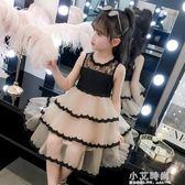 女童洋裝 女童夏裝2019新款洋氣童裝洋裝6歲蓬蓬紗蛋糕裙7歲女孩公主裙潮【小艾新品】