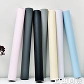 防水自貼牆紙自黏臥室客廳背景牆宿舍寢室3d立體家用純色壁紙10米 自由角落