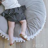 寶寶褲子夏2018新款女童小童嬰兒兒童夏季短褲外穿面包褲大PP褲薄   米娜小鋪