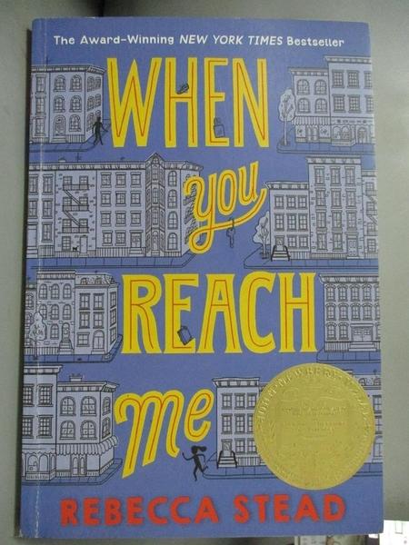 【書寶二手書T1/原文小說_OPG】When You Reach Me_Stead, Rebecca