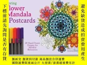 二手書博民逛書店Coloring罕見Flower Mandala PostcardsY410016 Wendy Piersal