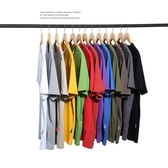 短袖T 夏季男裝日系純色短袖潮流青年純棉上衣體恤簡約寬松T恤