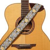 個性刺繡民謠古典吉他帶木吉他電吉他背帶貝斯 潮流前線