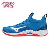 MIZUNO WAVE MOMENTUM 2 男款 排球鞋 ENERZY 湖藍 V1GA211224 21FWO
