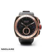 【NSQUARE】/三眼橡膠錶(男錶 女錶)/G0369-NO7.4/台灣總代理原廠公司貨兩年保固