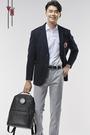 【皮爾卡登旗艦店】70系列休閒西裝外套 (黑) - pierre cardin 皮爾卡登 70週年限量