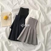 半身裙超短裙百褶裙女新款夏季韓版學院風高腰顯瘦A字裙子