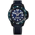 elegantsis / ELJX48MAS-ROCN-NU02LC / 預購優惠 海軍艦隊2.0 機械錶 義大利真牛皮錶帶 藍黑色 45.5mm