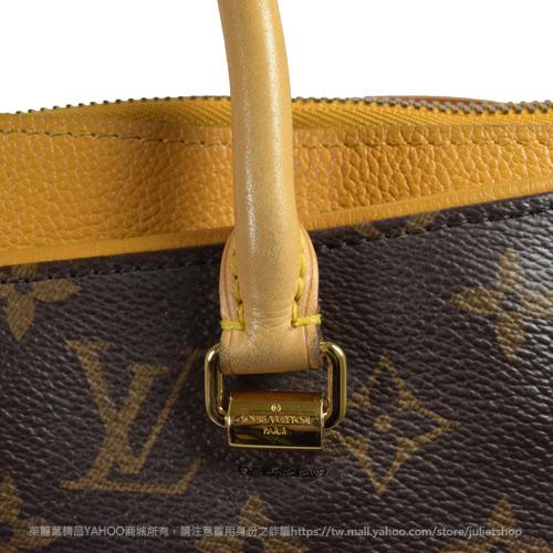 茱麗葉精品 二手精品 【8.9成新】Louis Vuitton LV M40929 PALLAS 經典花紋兩用仕女包.黃