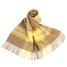 BURBERRY 經典格紋喀什米爾羊毛圍巾(典藏米黃)089540