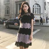 洋裝 短袖蕾絲包臀 韓版 派對夜店 婚禮小禮服 連身裙 花漾小姐【預購】