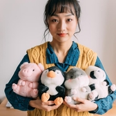 公仔 倉鼠毛絨玩具可愛超萌小號企鵝娃娃豬玩偶兒童禮物女 - 雙十二交換禮物