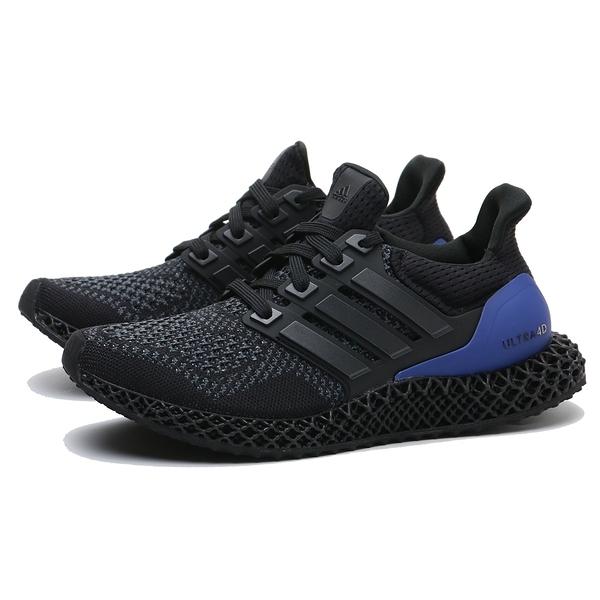 ADIDAS 休閒鞋 ULTRA 4D BLACK PURPLE 黑紫 原版配色 4D 列印技術 慢跑鞋 男 (布魯克林) FW7089