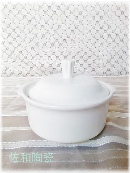 ~佐和陶瓷餐具~【82P088-4  4吋雙耳湯盅(含蓋)】單人湯盅/燉湯/蒸碗/甜湯
