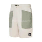New Balance 短褲 NB Logo Shorts 米白 綠 男款 運動褲 工裝風 運動休閒 【ACS】 MS11580TWF
