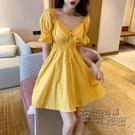 很仙的法國小眾桔梗裙氣質收腰顯瘦性感洋裝子女新款夏季 衣櫥秘密