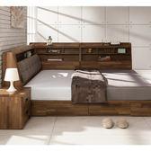 日本直人木業-KELT積層木6尺雙人抽屜床組加7尺收納邊櫃
