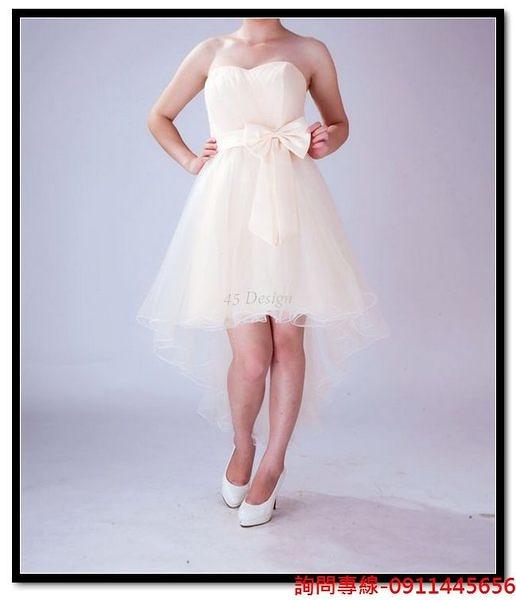 (45 Design) 訂做款式7天到貨韓式短裙可訂做胖MM小禮服 伴娘 走秀 主持 畢展 舞會 春酒 尾牙