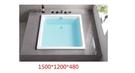 【麗室衛浴】BATHTUB WORLD 8612方造型空缸150*120*48CM