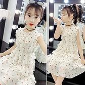女童雪紡洋裝2021夏裝新款中大童草莓裙小女孩夏季超洋氣蛋糕裙 幸福第一站