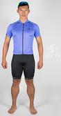 *阿亮單車*SPORTY司普堤 男用經典款Plus機能短車褲(黑/藍色線) C0919