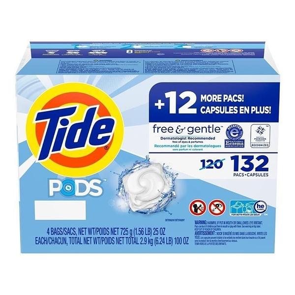 Tide 汰漬 無色香洗衣膠囊 33顆 X 4入