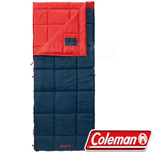 Coleman CM-32337橘 信封型表演者睡袋III 適溫5度睡蛋/露營化纖寢袋/午睡保暖被/懶人毯
