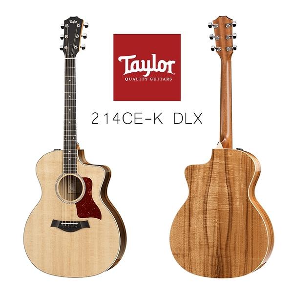 小叮噹的店-Taylor 214CE K DLX 雲杉木 面單板 電木吉他 附原廠硬盒 200系列 2系