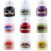 YANKEE CANDLE 香氛蠟燭 (104g)-海鹽與鼠尾草+歐式旋轉燭罩蠟燭台