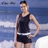 ☆小薇的店☆泳之美品牌 【全排水線面料】時尚流行二件式連身泳褲裝特價1090元NO.2305H(M-XL)