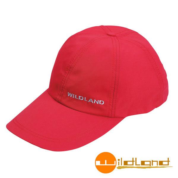 Wildland荒野 W1013-17嫣紅色 中性 抗UV透氣棒球帽/防曬/遮陽/踏青/郊遊/MIT/休閒帽/工作帽