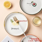 墨色陶瓷盤子菜盤創意微波爐專用盤家用網紅深盤餐盤碟子【時尚好家風】