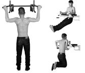 引體向上器 家用掛壁式單杠墻上單杠引體向上健身運動器材打孔單雙杠