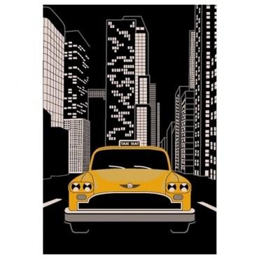 藝術紐約地毯140x200cm 車子