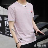 棉麻上衣 夏季男士短袖t恤韓版潮流學生體恤打底男裝 QX2801 『愛尚生活館』