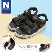 涼鞋.2way魔鬼氈運動速乾涼鞋(黑)-大尺碼-FM時尚美鞋-Neu Tral.Heart
