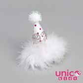 UNICO 兒童  聖誕節慶生日派對拐杖棒棒糖帽子髮夾