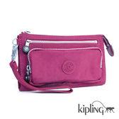 Kipling 莓紫素面掛繩手拿包-小