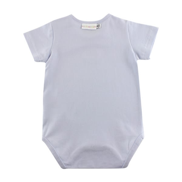 【愛的世界】彈性小兔蜻蜓短袖包屁衣2件組/3個月~1歲-台灣製- ★幼服推薦 全面五折