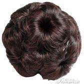 花苞頭假發飾丸子頭發夾九朵花抓夾仿真假發包盤頭發的飾品盤發器  提拉米蘇