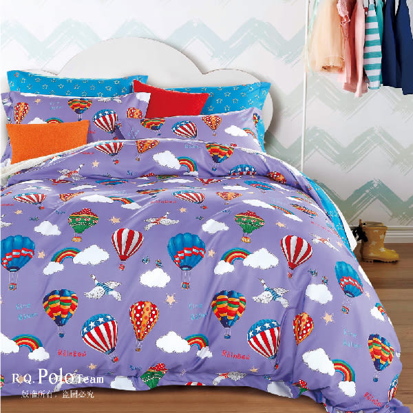 R.Q.POLO【米納】精梳棉-雙人標準五件式床罩組(5X6.2尺)