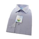 【南紡購物中心】【襯衫工房】長袖襯衫-淺藍色細條緹花織紋