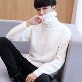 男士高領毛衣2018新款冬季加厚韓版寬鬆線衣潮流男學生個性針織衫 美芭