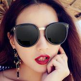 太陽眼鏡 太陽鏡女潮韓國新款大框復古墨鏡女圓臉個性偏光鏡眼鏡【618好康又一發】