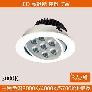 HONEY COMB LED 9W高效能崁燈 3入一組 黃光 TAD0813