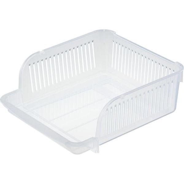 小禮堂 Inomata 日本製 冰箱分格收納盒 XL (白色款) 4905596-03620